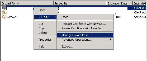 Windows Server 2008 Client Cert